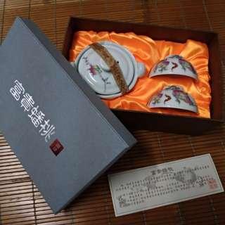 富貴蟠桃 陶瓷茶碗盅 禮盒組