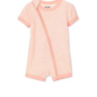 Baju Baby Murah - Cotton On Kids Romper - Peach Puff Stripe