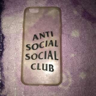 anti social social club iphone 6/6s case