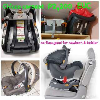 Chicco baby to toddler carseat
