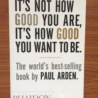 It's Not About How Good You Are, It's About How Good You Want to Be
