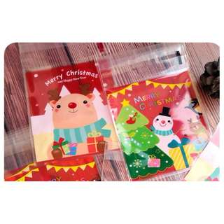 Christmas resealable cookie bag Cookie Bag size (10 x 10 cm ) many design