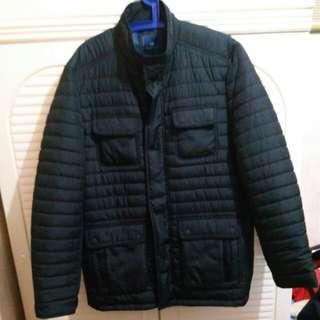 100%全新 男裝黑色夾棉外套 中碼 size M