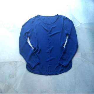 Freesize - Blue Plain Blouse