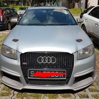Audi S3 2.0L turbo Superb condition Red interior Self collect jb now offer 🇸🇬
