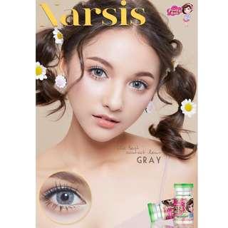 Narsis Series Contact Lens - Gray/Brown