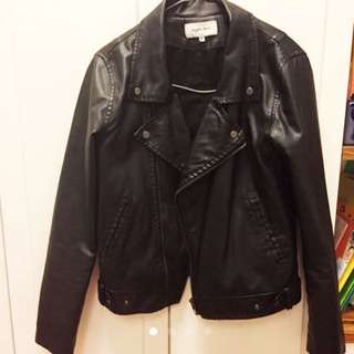 Global work leather jacket皮外套
