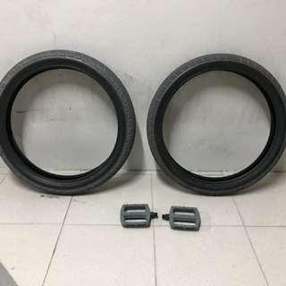 BSD Donnasqueak Tires, BSD Safari Pedals