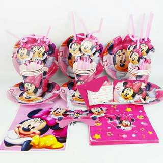 Minnie Mouse Theme Birthday Party Supplies For 10 Kids