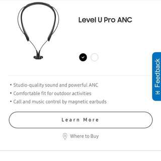 Samsung Level U Pro ANC Bluetooth Earphones