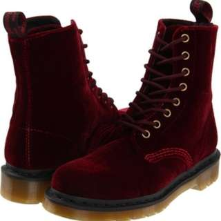 Dr marten red boot size 5 us
