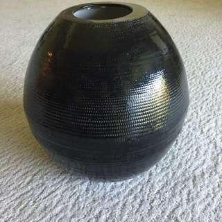11 in tall round vase