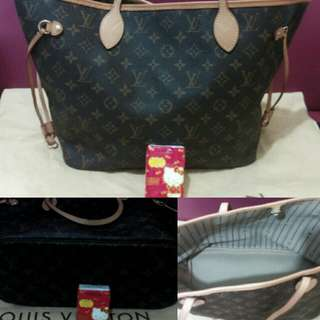 LV original authentic MM neverfull