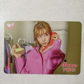 Twice Sana yes card