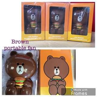 Brown portable fan