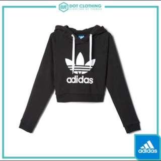 Adidas original 短版帽t長袖