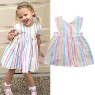 Baby Girl Pastel Stripes Dress