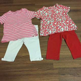 2 Sets Top and Leggings (18-24m)
