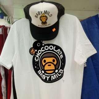 Baby Millo x Chocoolate Shirt & Trucker Cap (as pack)
