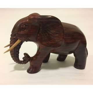 Luxury Thnong Wood Handcarved Wood Elephant from Cambodia
