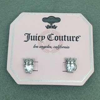 Juicy Couture Sample Earrings 銀色皇冠閃石心心耳環