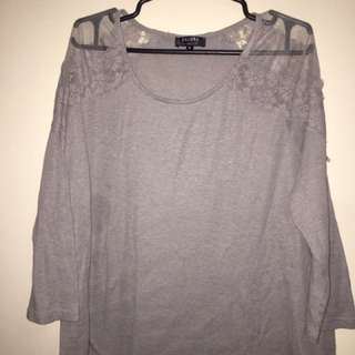 Zalora Gray Blouse