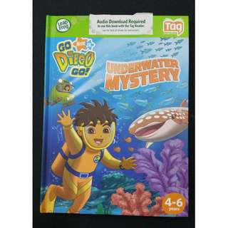 Leapfrog Tag Activity Storybook Go Diego Go! Underwater Mystery