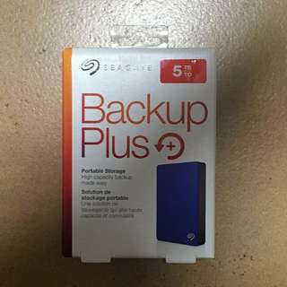 5TB Seagate Backup Plus HDD blue