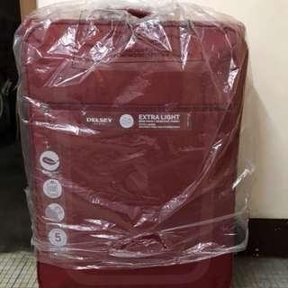 DELSEY 行李箱 紅色 超輕款