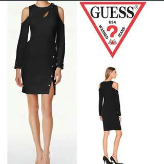 Guess Lila Snap Dress material spandek mix polyester high quality di Web 1,5 juta
