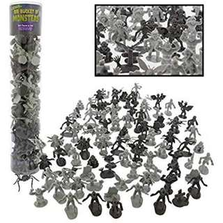 Monster Action Figure Bucket - Big Bucket of 100 Horror Toy Figu