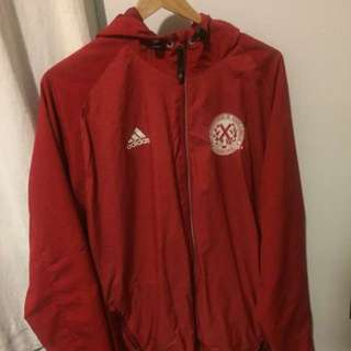 Red adidas oversized jacket