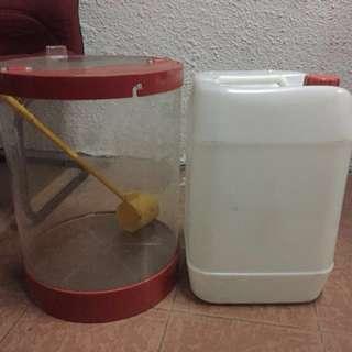 Bekas air / tong air