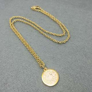 Marc Jacobs Sample Necklace 白色配金色笑哈哈頸鏈 長度60 cm (吊墜1.8cm直徑)
