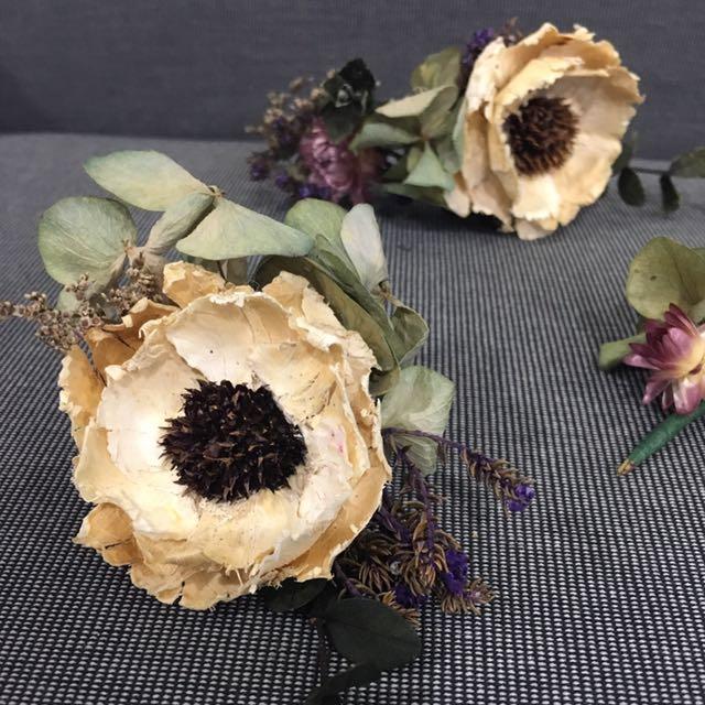新娘飾品(乾燥花飾,3個ㄧ組)