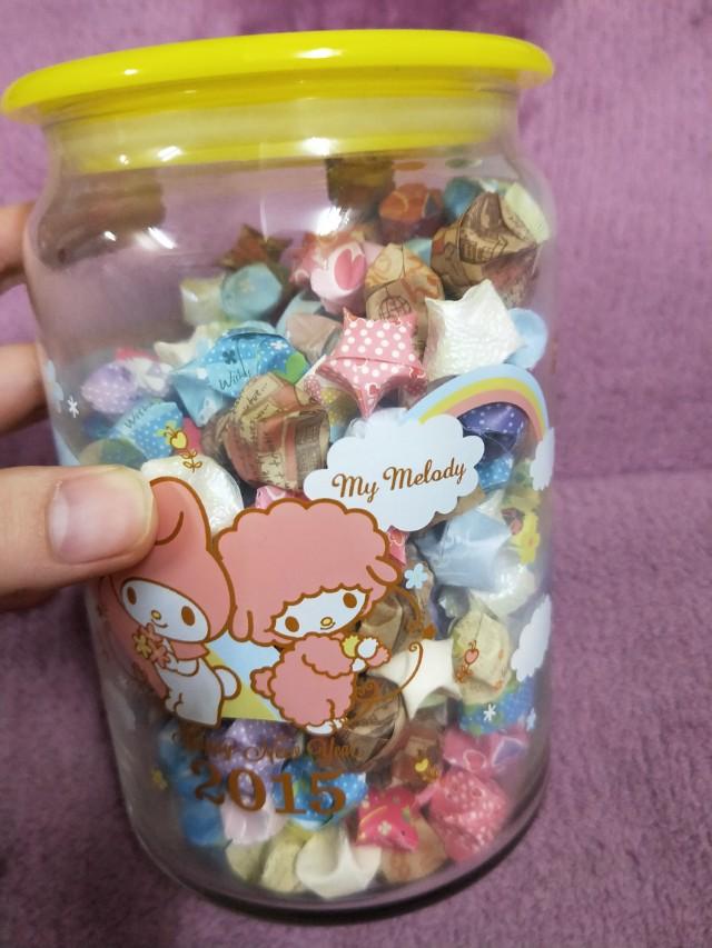 可愛玻璃罐含星星