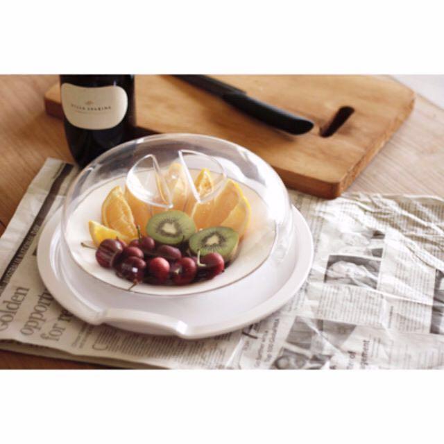 高品質。台灣製-保鮮防塵餐盤罩組。蛋糕罩/甜點/水果盤/野餐露營/防蟲