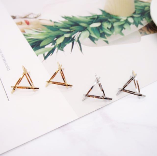 歐美時尚幾何圖形耳環