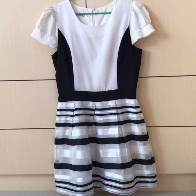 🔆條紋修身洋裝