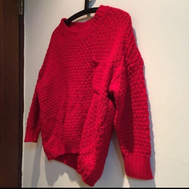 聖誕紅毛衣