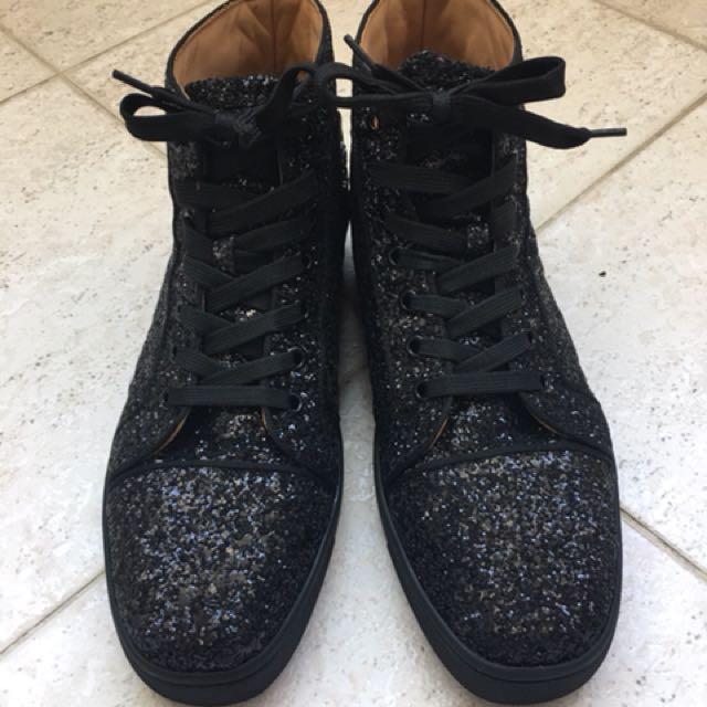 紅底高筒鞋