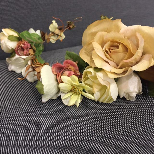 新娘飾品(人造花圈)