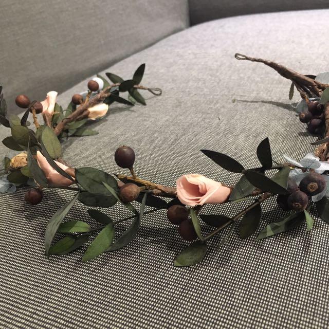 新娘飾品(乾燥花環)