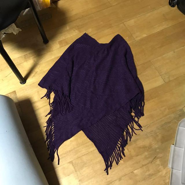 紫色帥氣披肩