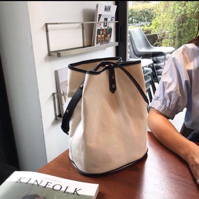 韓國單肩帆布包