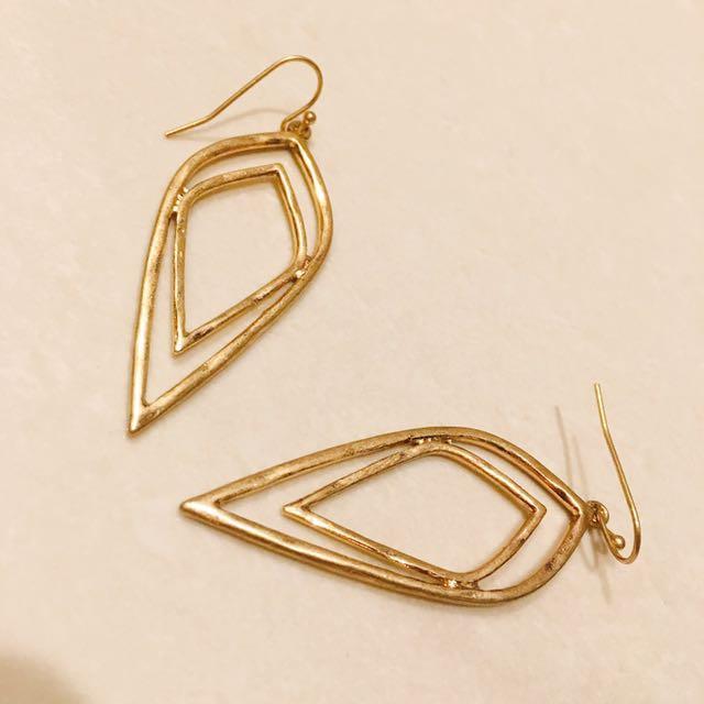 簡約雙線幾何耳環