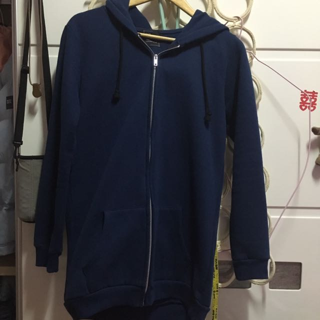 深藍票舖棉外套