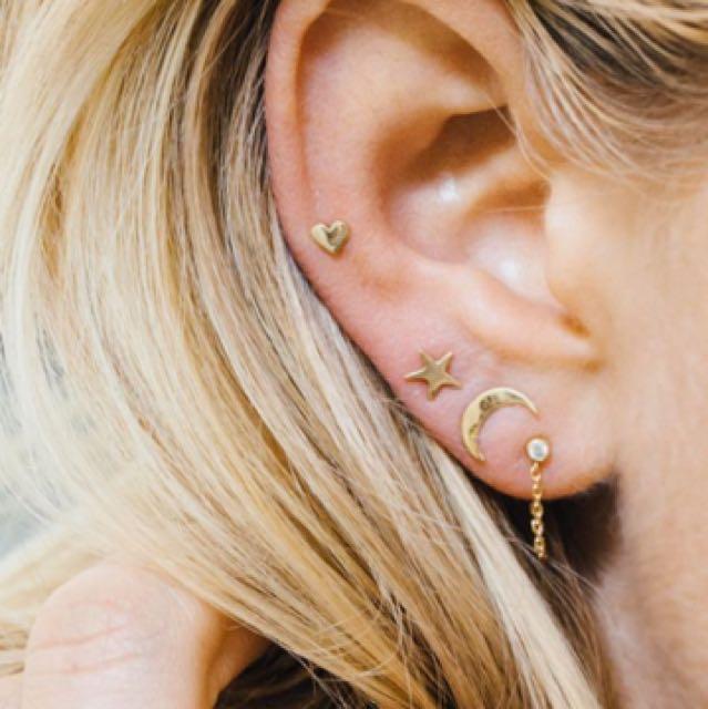 星星愛心月亮耳環