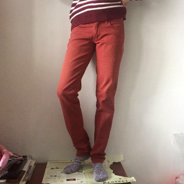 JAY JAYS牛仔斜紋色褲 褐