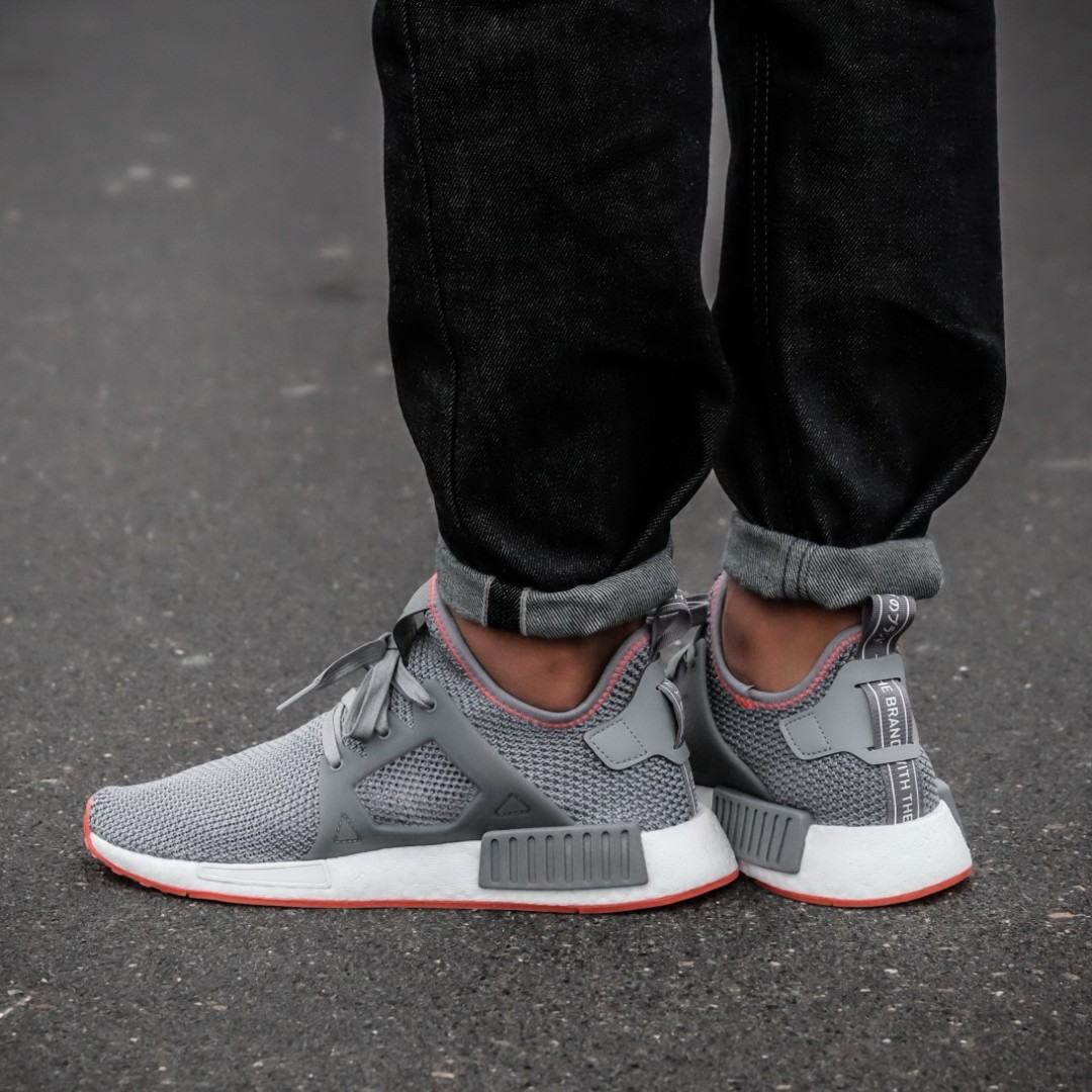 Authentic Adidas Nmd Xr1 Grey Three Solar Red Men S Fashion